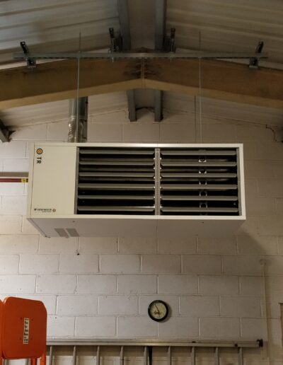 Full view of Heater Installation