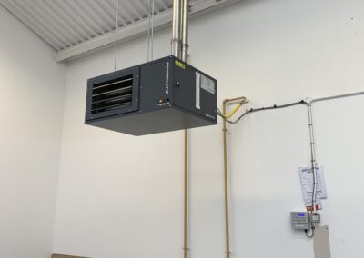 Heater installation for Team Valley Business Centre
