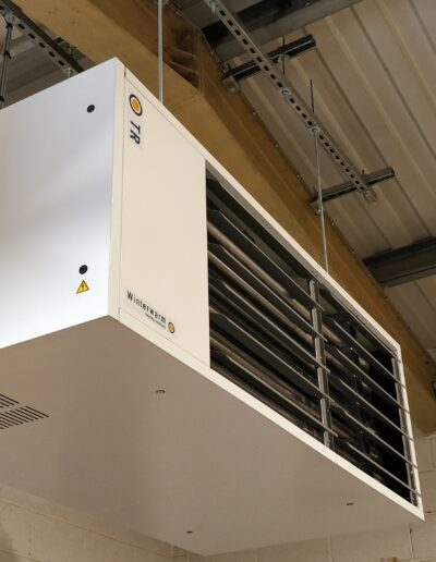 Side view of Heater Installation