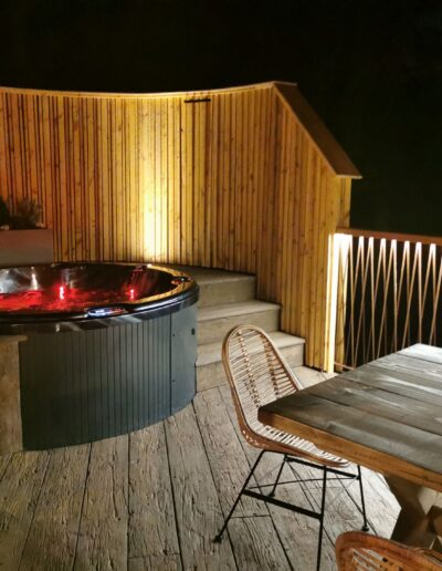 Outdoor Lighting and decking for Ramside Hall Luxury Treehouse