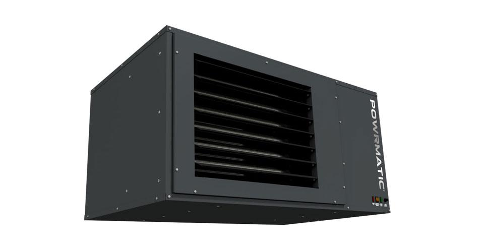 Suspended warm air unit heater