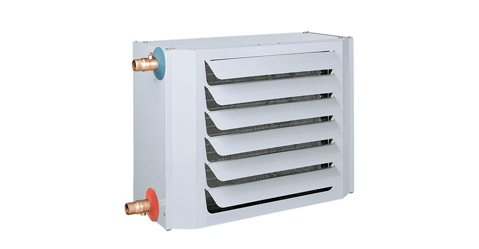 Fan coil unit for use with LPHW heating systems